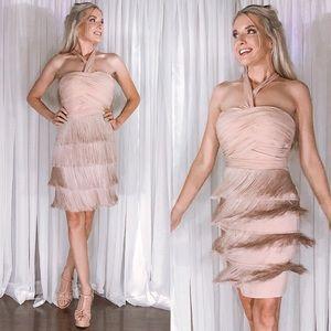Boston Proper Muse Blush Pink Tassel Party Dress